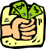 Fist Full Of Money clip art small